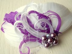 Radiant Orchid Lavender Bridal Fascinator   by kathyjohnson3, $36.00