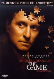 The Game, starring Michael Douglas and Sean Penn. [Have you seen this flick? Such a trip!]
