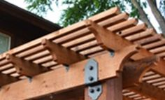 Ozco Decorative Ornamental Wood Ties! Strongest and most attractive post to beam connectors on the market. Now offered at HHDepot, The Deck Supply People!