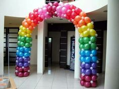 Colorful Balloon arch decoration