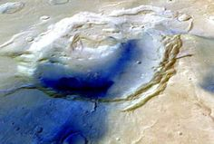 Researchers Discover Ancient Martian Supervolcano October 2, 2013 In a report that appeared in the journal Nature this week, scientists say they have discovered a supervolcano on Mars for the first time. The scientists determined that a vast circular basin on the face of the Red Planet is actually the remains of an ancient supervolcano eruption.