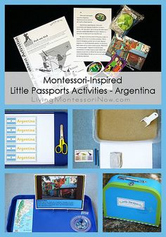 Montessori-Inspired Little Passports Activities – Argentina - Ideen finanzieren Continents Activities, Map Activities, Educational Activities, Preschool Activities, Little Passports, Cutting Activities, Geography For Kids, Budget Planer, Thing 1