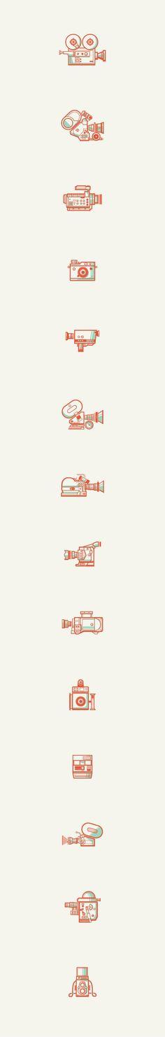 "Iconography / ""Just Shoot Me"" | Designer: Andres Eraso — Designspiration"