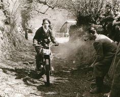 Vintage dirt bike girl