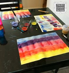 The Art Curator for Kids - The Legend of the Indian Paintbrush Art Project Watercolor Painting3