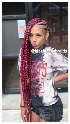 85 Box Braids Hairstyles for Black Women - Hairstyles Trends Box Braids Hairstyles, Lemonade Braids Hairstyles, My Hairstyle, Prom Hairstyles, Protective Hairstyles, Hairstyle Ideas, Black Girl Braids, Braids For Black Hair, Girls Braids