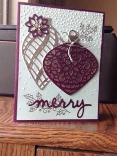Blackberry/ silver embellished by Arlene Mantle - Cards and Paper Crafts at Splitcoaststampers