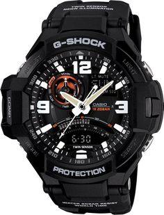 Mens G-Shock Gravity Defier Sky Cockpit Aviator watch Model No. GA-1000-1A