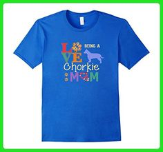 Mens Chorkie Mom and Chorkie Dog Lovers Large Royal Blue - Relatives and family shirts (*Amazon Partner-Link)