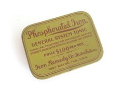 Phosphorated Iron advertising compact tin - vintage  Pink Room  160912 by ThePinkRoom