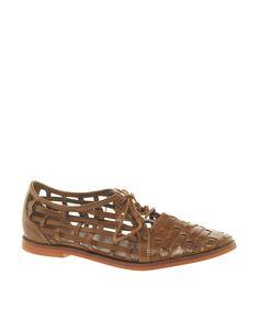 ASOS MANGO leather flat shoes