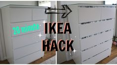 Cheap DIY Ikea hack in 20 mins | Malm drawers go Marble