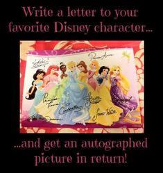 Write A Letter To A Disney Character And Get A Postcard In Return