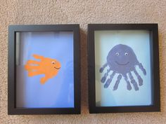 Adorable hand print art.  Must do this with Noah this summer.