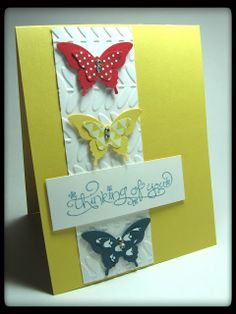 Butterflies could be changed for cupcakes, stars, or coffee cups to name a few.