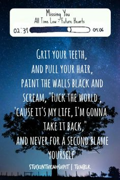 Missing you ~ All Time Low