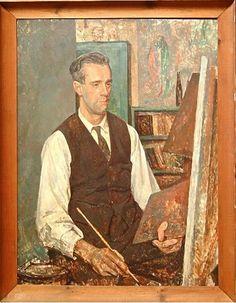 "Twentieth Century British Art by Percy Horton: ""Portrait of an artist, possibly Stanley Badmin- circa National Portrait Gallery, Male Portraits, Portrait Art, Art Club, First World, Art Gallery, British, Museum, Dabbing"