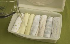 Homemade Baby Wipes | 10 Budget Friendly Homemade Baby Products | The Best Natural DIY Skin Care Products For Children - Self Sufficiency And Self Reliance Skills by Pioneer Settler at http://pioneersettler.com/homemade-baby-products/