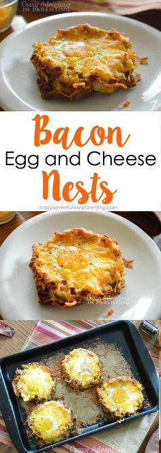 Bacon Egg and Cheese Nests