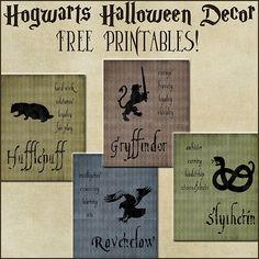 Over the Big Moon: Halloween Decor: Harry Potter House Posters {free printables} Baby Harry Potter, Harry Potter Thema, Classe Harry Potter, Harry Potter Nursery, Harry Potter Classroom, Harry Potter Baby Shower, Harry Potter Decor, Harry Potter Birthday, Harry Potter Halloween