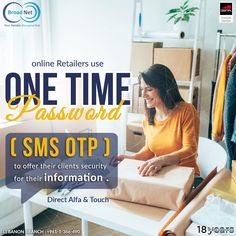 Online retailers use ONE TIME Password ( SMS OTP ) to offer their clients security for their information . Leb branch:+961-1-366-490/1/2 www.broadnet.me #lebanon #smsmarketing #bulksms #bulksmsservice #bulksmsprovider #marketingplan #marketingideas #marketingtools