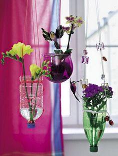 Botellas para tus flores