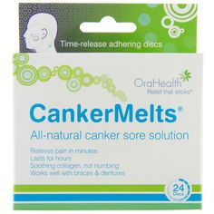 Pictures of CankerMelts- Canker Sore Treatment- Available in: New Transparent or Original Brown Formula- 24 discs