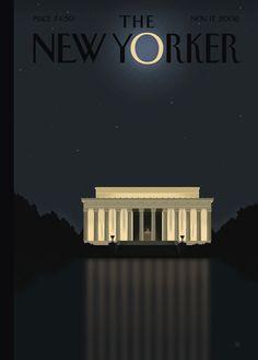 NYC. New Yorker magazine cover, Washingtonian state of mind