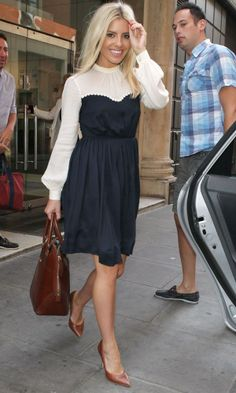 Mollie King carrying Burberry bag in London