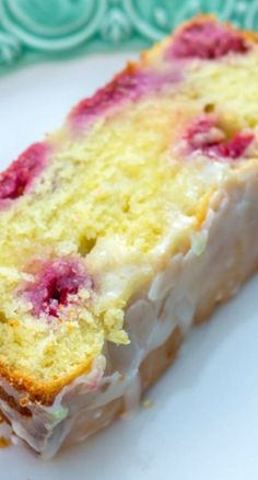 Raspberry Lemon Loaf Cake Recipe, I don't usually like lemon but this looks good enough to give it a try.