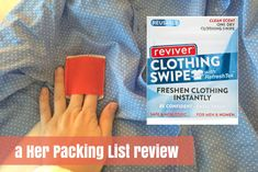 Reviver clothing swipes can help take the stink out of travel (and they are reusable up to 10x).