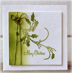 I love the freshness of green and white so today you can see these two cards with these colors on   Penny Black´s blog !   I used the beau...