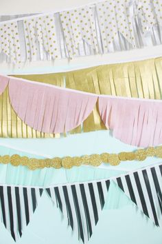 Make your own fringe garlands for decorating or parties! Easy, customizeable and so sweet | A Joyful Riot