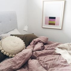 It's raining here in Byron, just a perfect Saturday for laying in bed all day hugging a soft Pampa Cushion. Beautiful bedroom styled by @aimeestylist x #wearepampa #inbed #style #interiors #living #cushions #handmade #weekendvibes We are offering free shipping for ALL products on our online store Australia wide, use code CELEBRATE