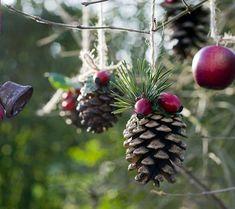 weihnachtsdeko selber basteln weihnachtsschmuck zapfen