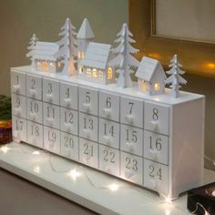 Adorable wooden advent calendars