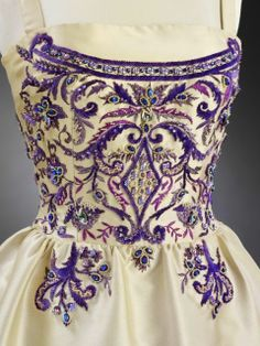 François Lesage was a French embroidery designer and heir to the embroidery atelier, Maison Lesage.  Pictured is a gown done in partnership with Lanvin.