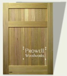 Wood Privacy Gate #91 by Prowell Woodworks