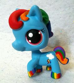 Rainbow Dash Custom Hand Painted Littlest Pet Shop My Little Pony | eBay