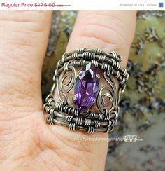Ring in the NEW YEAR Sale Wire Woven Filigree Ring by MyWiredImagination,