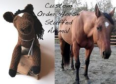 Do you love your own horse, would love it in stuffed animal form or know of a little one that loves horses? Order your own stuffed animal horse