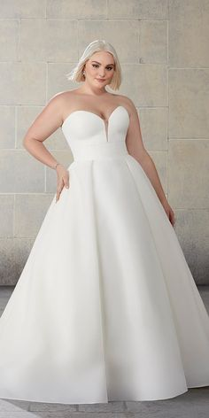 39 Plus-Size Wedding Dresses: A Jaw-Dropping Guide ❤ plus size wedding dresses simple sweetheart strapless neckline mori lee #weddingforward #wedding #bride