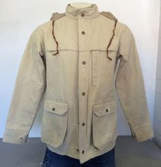 Vintage REI Jacket 80's Co-Op USA Canvas Cotton Heavy Snap & Zip Hunting Men's M #REI #Hunting
