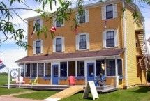 The old Orient Hotel in Victoria-By-The-Sea, Prince Edward Island, Canada. Cutest Bed and Breakfast! Seaside Village, Hotel Bed, Prince Edward Island, Bed And Breakfast, My House, Old Things, Cottage, Victoria, Vacation