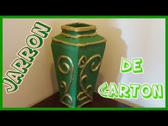 Diy jarra o jarron de carton - YouTube