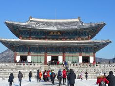 The Royal Palace - Gyeongbokgung - Travel * Food * Cool Places To Travel, Places To Visit, Royal Palace, Elizabeth Ii, South Korea, Travel Tips, Things To Do, Cool Stuff, Building