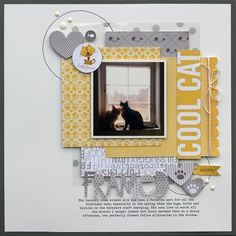 Bella Blvd Riley collection and Clear Cuts specialty papers. Framed layout by creative team member Lisa Dickinson. Dog Scrapbook, Scrapbook Sketches, Scrapbook Page Layouts, Scrapbook Cards, Scrapbooking Ideas, Picture Scrapbook, Scrapbook Frames, Frame Layout, Picture Layouts