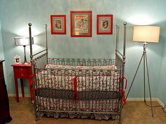 vintage bicycle theme baby room... TOO CUTE!