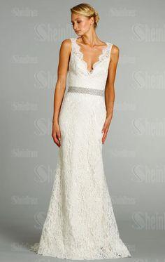Modest A-Line Vintage Long Wedding Dress HSNAL0165-SheinDressAU