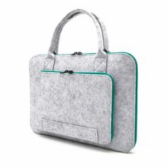 2017 New Felt Universal Laptop Bag Notebook Case Briefcase Handlebag Pouch For Macbook Air Pro Retina Inch Men Women Laptop Pouch, Laptop Briefcase, 17 Laptop, Laptop Cases, Macbook Air Cover, Macbook Air 13 Case, Briefcase Women, Notebook Case, Pink Beige